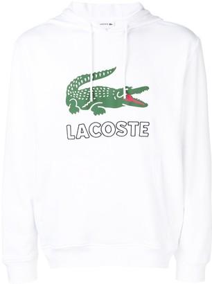 Lacoste logo print hoodie