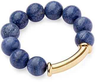 Catherine Canino Sponge Coral Stretch Bracelet - Blue