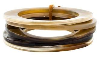 Viktoria Hayman Horn Bangle Set