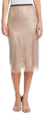 No.21 NO. 21 Sheer Midi Skirt