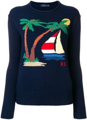 Polo Ralph Lauren (ポロ ラルフ ローレン) - Polo Ralph Lauren インターシャ セーター
