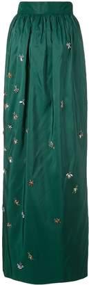 Carolina Herrera embellished fitted skirt