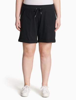 Calvin Klein plus size performance drawstring cuffed shorts