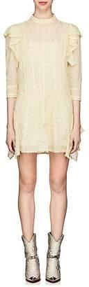 Etoile Isabel Marant Women's Alba Embroidered Cotton Shift Dress - Yellow