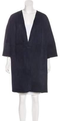 Leroy Veronique Suede Knee-Length Coat