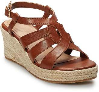 So SO Jonna Girls' Espadrille Wedge Sandals
