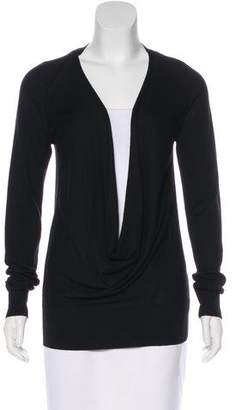 Diane von Furstenberg Long Sleeve Cashmere-Silk Blend Top