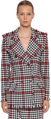 MSGM Cotton Blend Tweed Blazer