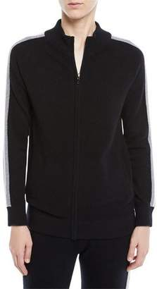 Neiman Marcus Luxury Cashmere Zip-Front Track Jacket