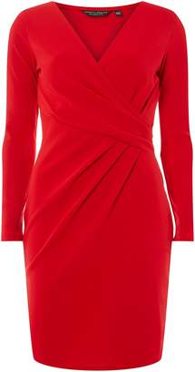 Dorothy Perkins Womens **Red Wrap Top Bodycon Dress