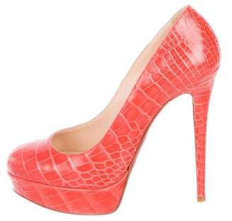 Christian Louboutin Bianca Crocodile Pumps