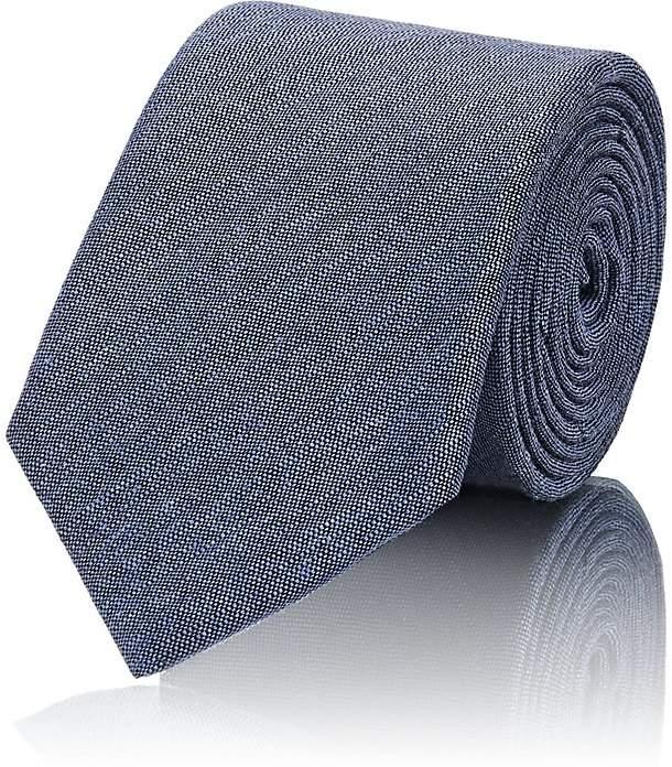 Men's Solid Linen-Silk Necktie