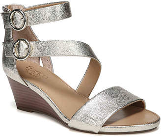 7f40935ac43 Franco Sarto Metallic Leather Women s Sandals - ShopStyle