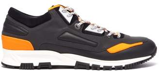 Lanvin Leather And Suede Low Top Trainers - Mens - Black Multi