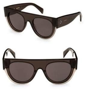 Celine Smoke Flat Top Round Sunglasses