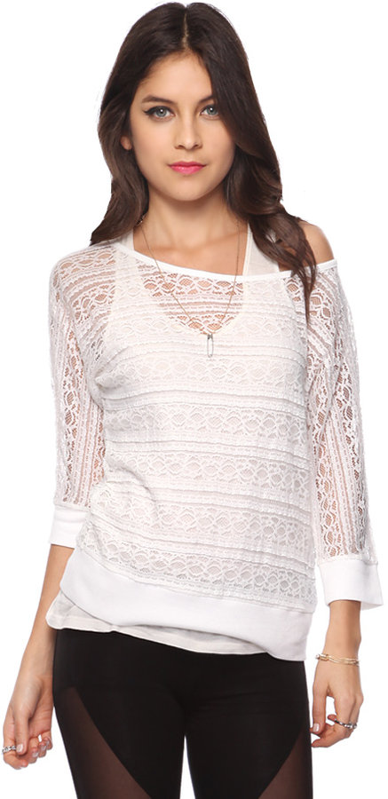 Forever 21 Frilly Lace Top