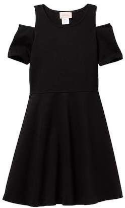 Love...Ady Skater Dress With Open Shoulders (Big Girls)