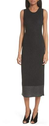Jason Wu GREY Pinstripe Wool Knit Dress