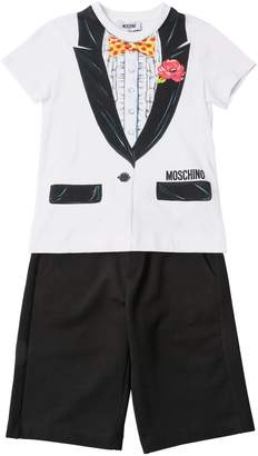 Moschino COTTON JERSEY T-SHIRT & SWEAT SHORTS