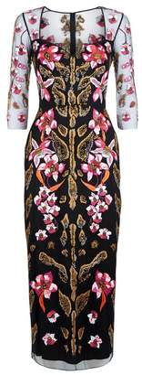 Temperley London Pardus Fitted Dress