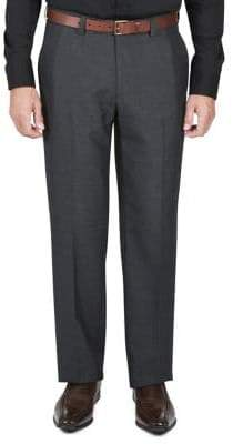 Haggar Melange Plaid Dress Pants