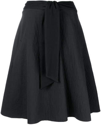 Chalayan belted flared skirt