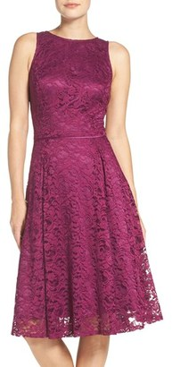 Women's Tahari Lace Fit & Flare Midi Dress $138 thestylecure.com
