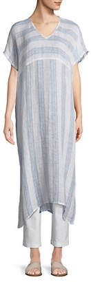 Eileen Fisher Striped Linen Caftan