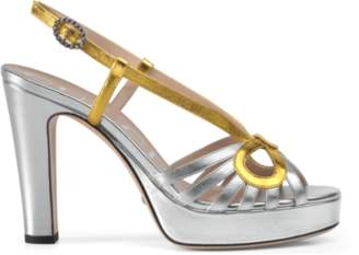 Gucci Metallic leather sandal