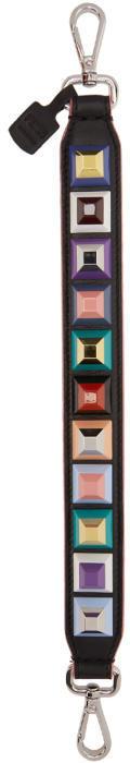 Fendi Black Mini Rainbow Strap You Shoulder Strap