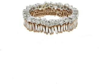 Suzanne Kalan Double Diamond Round Baguette Eternity Ring