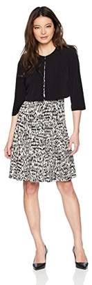 Jessica Howard Women's Petite Belted Dress with Matching Jacket
