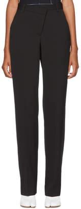 Maison Margiela Black Mixed Wool Trousers