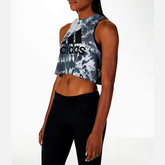 adidas Women's Tie-Dye Crop Tank