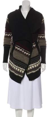 Yigal Azrouel Open Front Wool Cardigan