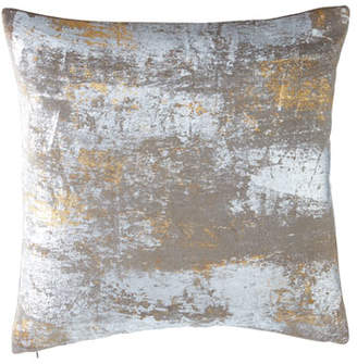 "Michael Aram Distressed Metallic Velvet Pillow, 20"" Square"