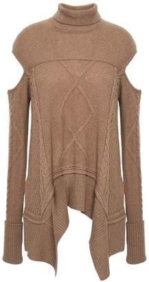0745eea402 Roberto Cavalli Cutout Camel Turtleneck Sweater