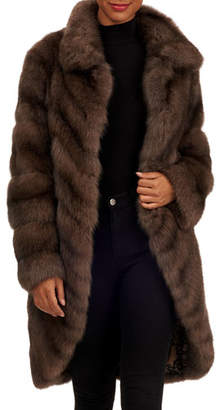 Tsoukas Russian Sable Fur Short Coat