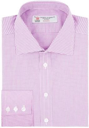 Turnbull & Asser Poplin Check Printed Shirt