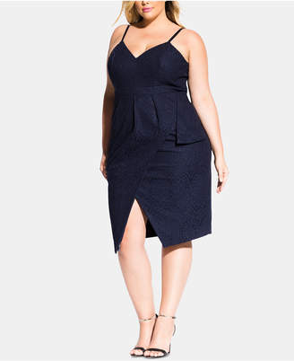 City Chic Trendy Plus Size Lace Dress