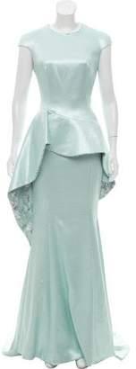 John Paul Ataker Brocade Peplum Dress