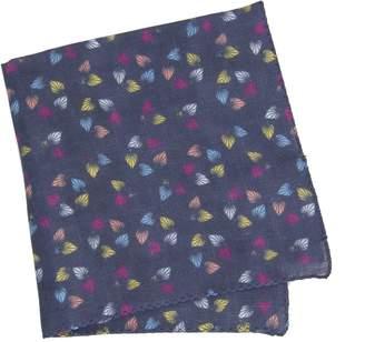 40 Colori - Navy Birch Printed Linen Pocket Square