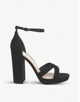 Office Hiccup faux-leather platform-heeled sandals