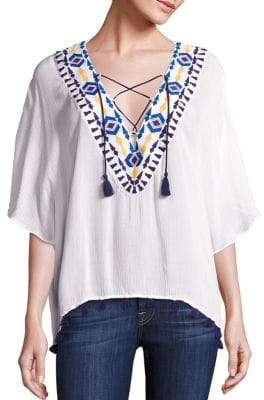 Java Lace-Up Top