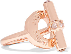 Marc by Marc Jacobs Toggle Rose Gold-Tone Crystal Ring