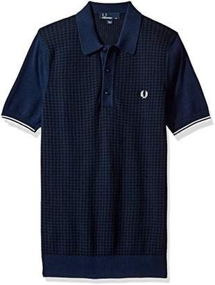 Fred Perry Men's Houndstooth Knitted Shirt