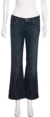 Paige Denim Mid-Rise Wide-Leg Jeans