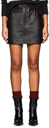 Officine Generale Women's Flora Leather Miniskirt