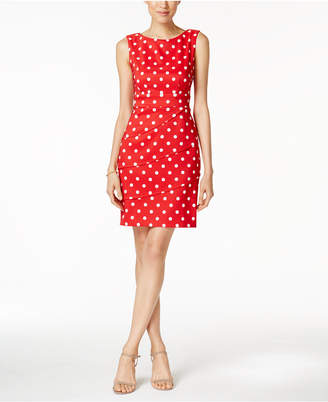 Connected Polka-Dot Tiered Sheath Dress $69 thestylecure.com