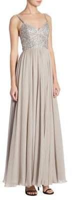 Jenny Packham Beaded Chiffon Gown